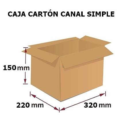 Pack 10 Cajas de Cartón, Medidas (320x220x150 mm) para embalajes y envíos.