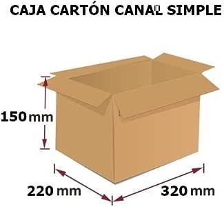 Pack 10 Cajas de Cartón, Medidas (320x220x150 mm) para embalajes y ...