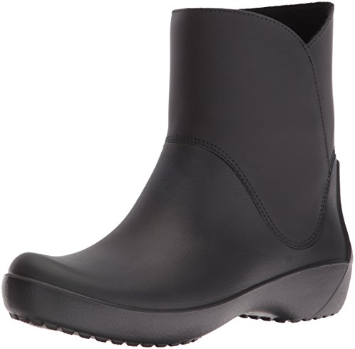 Croc Ankle Boot (Crocs Women's Rain Floe Boot, Black, 8 M US)