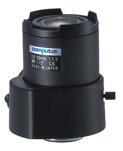 Computar TG4Z2813FCS-IR 0.33-Inch Varifocal lens 2.8-12mm F1.3 Auto Iris DC Drive Day/Night Infrared