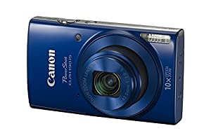 Canon PowerShot ELPH 190 IS with 10x Optical Zoom (24-240mm) and Built-In Wi-Fi with NFC - Blue(Certified Refurbished)