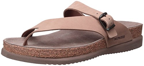 Mephisto Womens Helen Camel Leather Sandals 41 EU