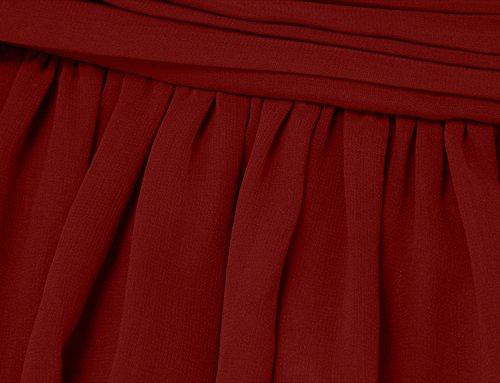 Ssyiz Elegantes Gefaltetes Chiffon Fußboden Längen Abend Partei Kleid der Frauen Brautjungfernkleid (Alle Kleider Werden Maßgeschneidert Geliefert) Burgundy 2KOEIFyk