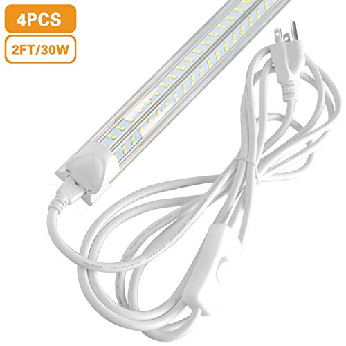 - 2FT LED Tube Light Fixture 30W, 24