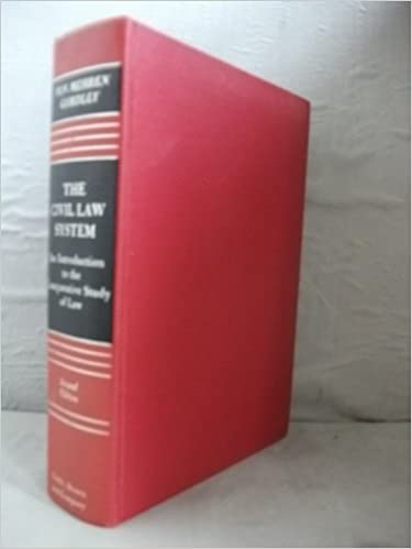 Image for The Civil Law System; An Introduction to the Comparative Study of  Law