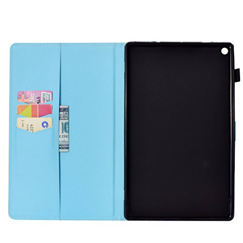 HD 2015 Folding Bookstyle 10 Auto Sleep Ultra Inch Magnetic Magnolia Case Retro Leather Closure Card Amazon Fire Thin 10 of Function PU Wake Leather Pattern for Slot 2017 14 Sten Color LMFULM Case 1 and wXYnST4Y