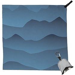 PackTowl Nano Towel, Blue Mountain, 19