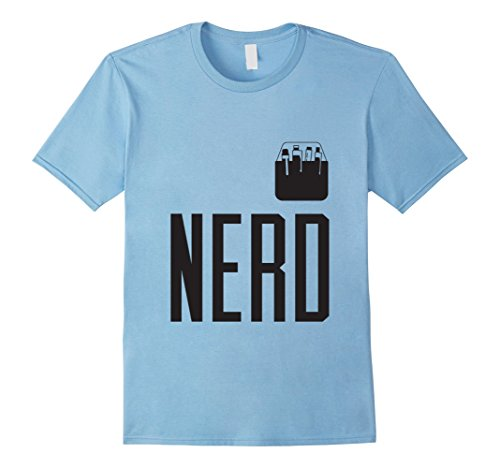 Mens Halloween Costume Nerd Shirt Cute Funny Adult & Kid Geeks Small Baby Blue - Grown Man Baby Costume