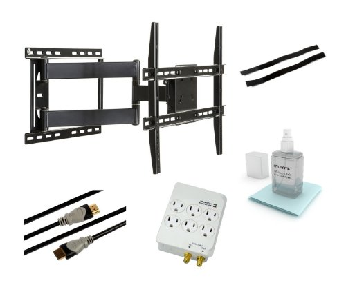 ticulating Wall Mount Kit for 37-Inch to 64-Inch Flat Panel TVs, Black (Black Flat Panel Wall Mount)