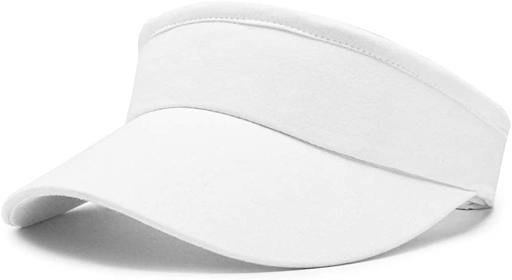 Pesaat Classic Women Sports Visor Hat Summer Woman Wide Brim Cap Cotton Adult Sun Hats