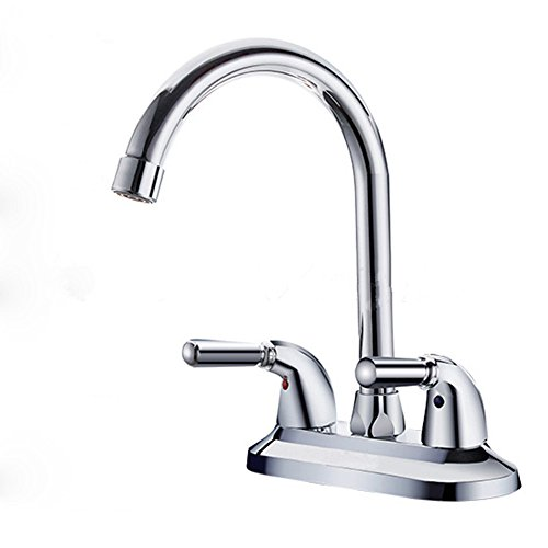 Siderit DE-96022FL Two Handle Lavatory Bathroom Faucet Polished Chrome Sink Faucets