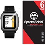Spectre Shield Pebble Time Screen Protector (6-Pack) Accessory Screen Protector for Pebble Time Case Friendly Full Coverage Clear Film