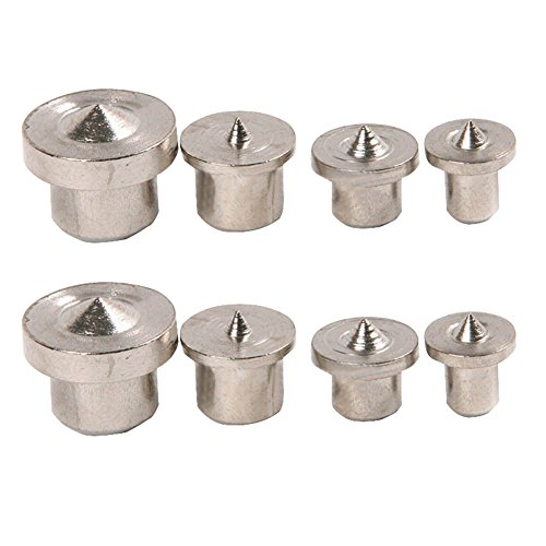 Zeroyoyo 8-Piece Dowel and Tenon Centers Set Drill Centre Points Pin Wood (Hole Finder)