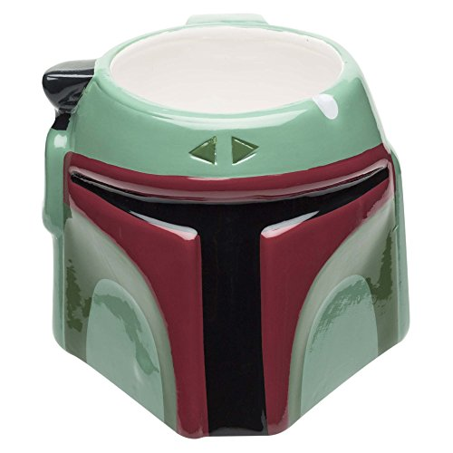 Zak Designs SWRD-8519 Star Wars Coffee Mugs, Sculpted, Ep4 Boba Fett ()