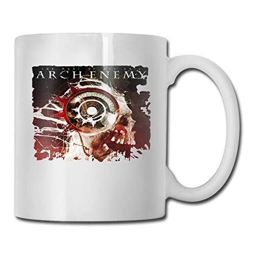 Hye D Riche Arch Enemy-The Root of All Evil 11 Oz Cocoa Ceramic Glossy Mug with Large C-Handle Music Band Mug Tea Cup for Gift