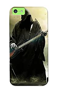 Fireingrass 97fbfd6803 Case For Iphone 5c With Nice Grimreaper Reaper Dark Fantasy Music Other Digitalart Guitars Appearance