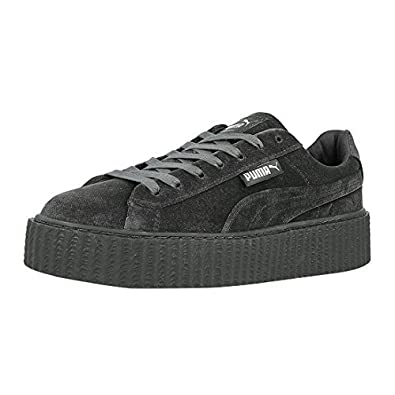 detailed look 3e6a5 fe797 PUMA x Fenty by Rihanna Women Creeper Velvet (Gray/Glacier) 8.5
