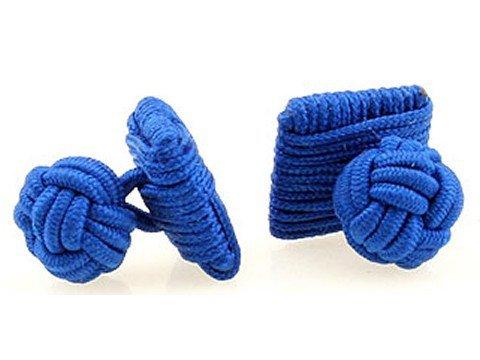 Teroon boutons de manchette soie Nœud Bleu