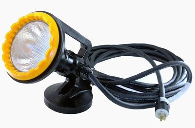 120 Volt Blasting Light with Magnetic Mount - Polyurethane - 50 foot 6/3 Cord - MADE IN THE USA(-220 Volts AC-Flood)