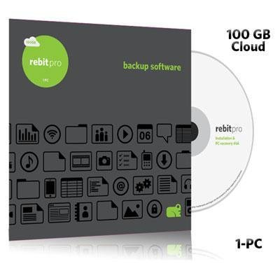 Rebit Pro 1-PC local Back-Up/System Recovery Software with 250GB Cloud Service (1 year)