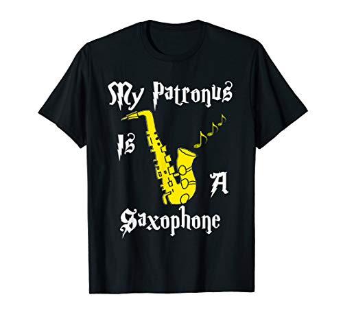My Patronus Is A Saxophone Sax Saxophonist Jazz Music TShirt -