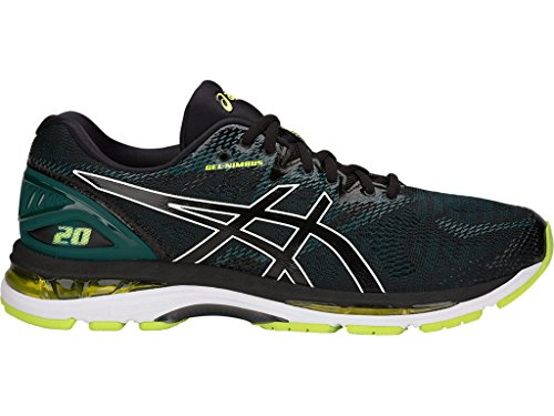 Asics Gel Runners (ASICS Gel-Nimbus 20 Men's Running Shoe, Black/Neon Lime, 9 D(M) US)