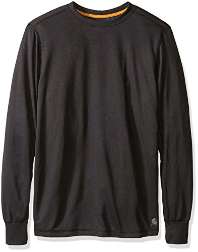 Carhartt Men's Big & Tall Base Force Extremes Cold Weather Crewneck Sweatshirt, Black, 3X-Large/Tall ()