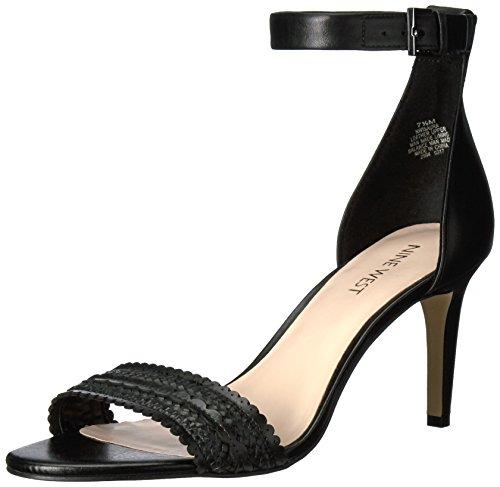 Nine West Women's Isaura Leather Pump Black/Black good selling sopBxlk