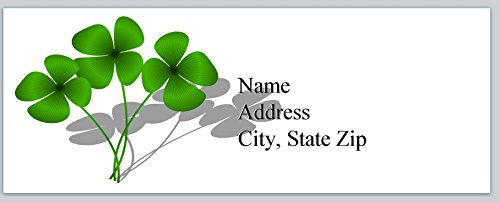 120 Personalized Address labels Clover Shamrock (P 510)