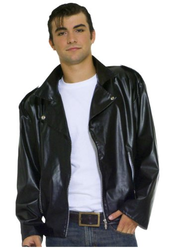 [Forum Flirtin With The 50S Greaser Jacket, Black, Plus Costume] (Bird Costumes Women)