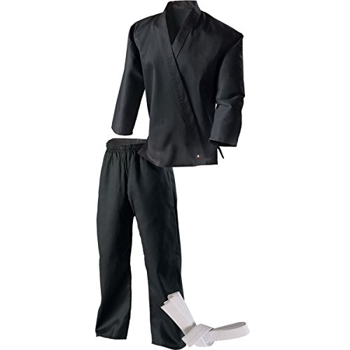 Century Martial Arts Middleweight Student Uniform with Elastic Pant - Black, 2 - Child 10-12