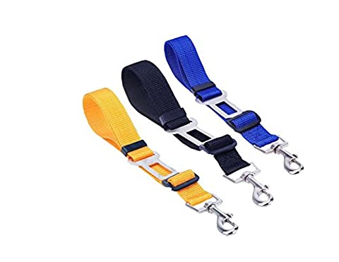 LPET Adjustable Pet vehicle Seat Belt Safety Leads Harness Seatbelt for Dogs and Cats Car Travel - Bulldog Leash Hook