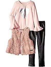 Calvin Klein - Chaleco de Piel sintética para niña (3 Piezas)
