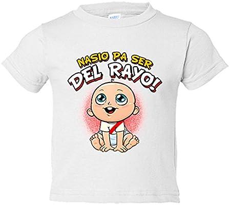 Camiseta niño nacido para ser del Rayo Vallecano fútbol - Blanco 8370950d98201