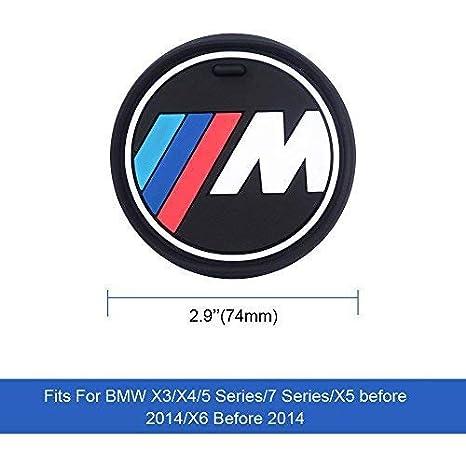3.2 S-WEKA 2PCS M Line Car Interior Accessories Anti Slip Cup Mat for BMW 1 3 5 7 Series F30 F35 320li 316i X1 X 3 X4 X 5 X6 2.9 dia.(X3//X4//5//7 Series) 81mm
