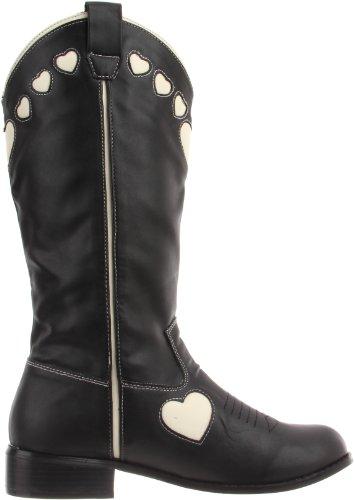 TUK Queen Of Hearts - Botas de material sintético Mujer negro - Noir (Black Cream Hearts)