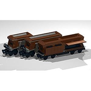8-Wheel Dumper Hoppers: Lego MOC building instructions (Lego Train MOC Plans Book 3)