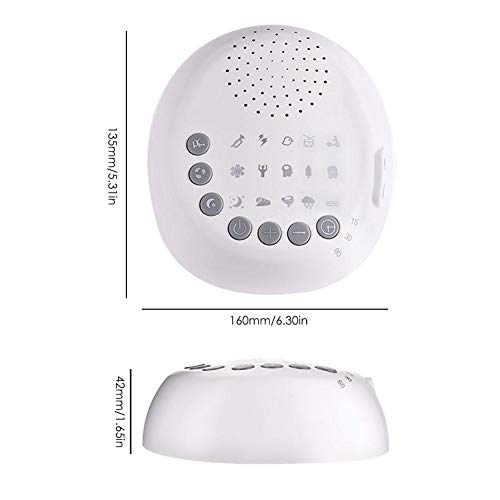 Shantan Noise Machine - Therapy & Home Travel- 15 Natural Timer - Or Battery