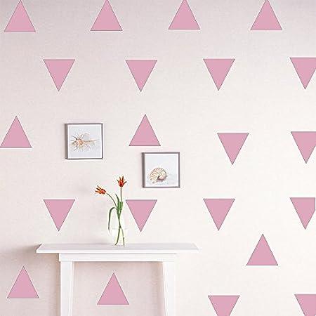 Trompette 42 Pcs Triangle Rose Auntwhale Moderne Vinyle Dot Triangle Wall Decal Solide Motif Wall Sticker DIY Home Decor Enfants//Enfants Chambre D/écor Autocollants