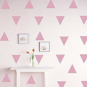 TOPmountain DIY Wall Sticker Dot Triangle Removable Decals Home Living Room Decoration Kids Room PVC Five Stars