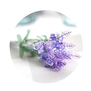 qiguch66 Artificial Flower for Decoration, 1Pc Artificial Flower Lavender Garden DIY Stage Party Wedding Festival Decor - Light Purple 59