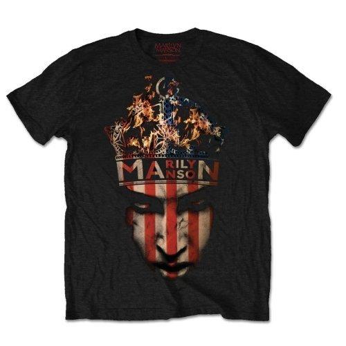 Marilyn Manson Men's Crown Short Sleeve T-shirt, Black, Large