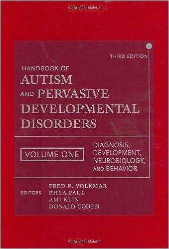 Handbook of autism and pervasive developmental disorders diagnosis handbook of autism and pervasive developmental disorders diagnosis development neurobiology and behavior volume 1 9780471716969 medicine health fandeluxe Gallery