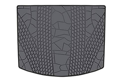 HD-Mart Cargo Liners Custom Fit Ford Escape 2012-2013-2014-2015-2016-2017-2018-2019 Trunk Mats, Black Rubber for All Weather - Heavy Duty & Odorless