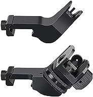 Feyachi 45 Degree Front and Rear Backup Iron Sights - Rapid Transition Picatinny Rail Mounted