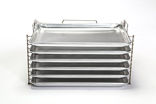 Bull Rack BR6 - Grill Tray System - Grill, Smoke, Dry and Cure Meats and Vegetables - Grilling Rack and Tray