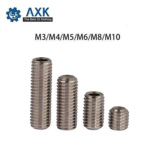 Ochoos DIN916 316 Stainless Steel concave Set Screws hex Socket Chimi M3 M4 M5 M6 M8 M10 Screw Headless Top Wire Machine 2017 - (Size: M4X3 300pcs) from Ochoos