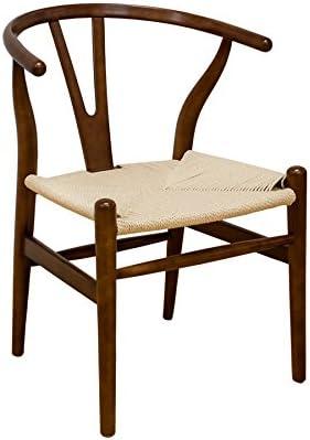 Ergo Furnishings Mid-Century Modern Wishbone Wood Dining Accent Chair
