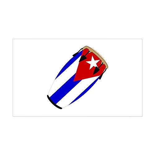 CafePress Conga Cuba Flag music Rectangle Sticker Rectangle Bumper Sticker Car Decal
