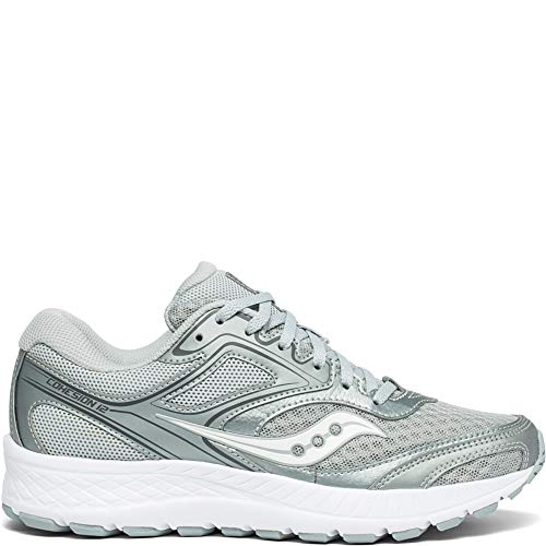 Saucony Women's VERSAFOAM Cohesion 12 Road Running Shoe Grey/Silver 9 M US